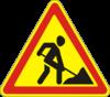 Предупреждающие знаки  1.37(Дорожные работы)