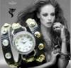 Повседневные часы  Новая мода 2013 кожаный обруч « JQ  »