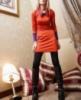 Женское платье оранж