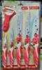 Набор керамических кухонных ножей, 6 предметов, красный
