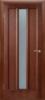 Дверное полотно полуостекленное «ТРОЯ» темный орех 2000*40*600,700,800,900 мм.