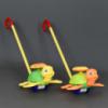 Каталка 0361 (72) «Черепашка» на палочке двигает ножками, 2 цвета, с погремушкой, в кульке