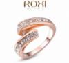 Кольцо Genuine Austrian Crystal покрытие золотом
