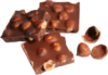 Шоколад черный ручной работы с лесным орехом. 100 грамм