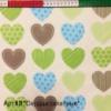 Ткань детская 100% хлопок Арт №31 «Сердца салатные»