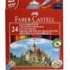 Карандаши цветные Faber_Castell 120124LE 24цвета шестигранные с чинкой «Замок», картонная коробка с подвесом Код:401625479
