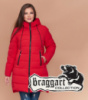 Braggart Diva 1939   Куртка женская зимняя большого размера красная