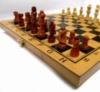 Шахматы бамбук 3 в 1 р.35 х 35 см (шахматы+шашки+нарды)