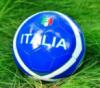 Футбольный мяч ПВХ для детей Италия синий