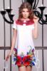 Женское платье-трапеция с дизайнерским принтом