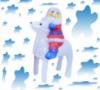 Светодиодная Статуэтка Олененок с Дедом Морозом 3D Фигура 50 см