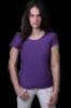 Футболка хлопковая женская 5D - фиолетовая