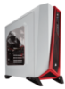 Corsair Carbide Series SPEC-ALPHA White/Red Windowed Mid-Tower ATX Case CC-9011083-WW