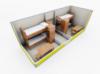 Бытовка строительная Модель ЕВРО 5