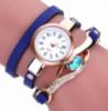 Синие женские наручные часы с браслетом