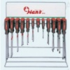 Инструмент HANS. Набор отверток шлиц и крест на стенде, 60 предм.    (06420-60)
