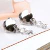 РАСПРОДАЖА! Серебряные серьги с фиолетовыми камнями