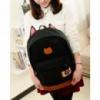 3-64 молодежный рюкзак / стильный / вместительный / женский рюкзак Цвет - черный