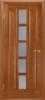 Дверное полотно «КВАДРО»  (цвет-каштан) остекленное, 2000*40*600,700,800,900 мм.