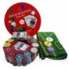 Покерный набор на 240 фишек с номиналом в круглой металлической упаковке №240Т Код:426318924