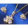 Набор серьги, кулон, цепочка позолота Gold Filled (GF254) Код:5624