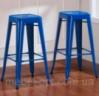 Металлический барный стул-табурет Tolix Bar Stool AC-012 синий, лофт,  дизайн Xavier Pauchard
