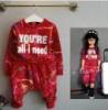 Спортивный костюм для девочек красный 7769