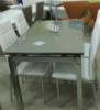 Стол стеклянный раскладной ТВ017 кофе с молоком 110\170*75*75см