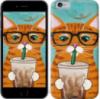 Чехол на iPhone 6 Зеленоглазый кот в очках «4054c-45-14431»