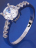 Кольцо белая позолота, цирконы (GF88) размер 17