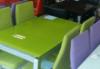 Стол стеклянный раскладной ТВ017 салатовый 110\170*75*75см