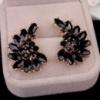 Серьги «Sapphire black» позолоченные