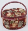 Шкатулка для рукоделия «Мастерица Kitten and Roses Oval», 26x23.5x19.5см