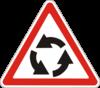 Предупреждающие знаки  1.19(Перекресток с движениeм по кругу)