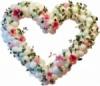 Сердца из шаров с цветами, Донецк