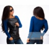 Женская кофта + кожзам, разные цвет, женская кофта недорого, жіноча кофта