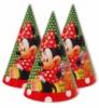 Колпаки праздничные, маленькие « Мини Маус в горошек ». 10 шт