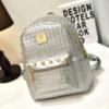 Маленький рюкзачок для девушек, есть металлические украшения
