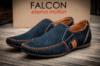 Мокасины мужские Falcon, темно-синий (2947-2),  [  45 (последняя пара)  ]