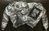 Бомбер Металлик Серебро куртка с манжетами на резинке