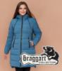 Braggart Diva 1939 | Зимняя куртка для женщин большого размера темно-голубая