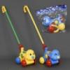 Каталка 0363 (84) «Собачка» на палочке, 2 цвета, с погремушкой, в кульке