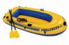 Двухместная надувная лодка Intex + пластиковые весла и ручной насос Challenger 2 Set 236x114x41 cм (68367)