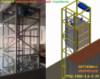 Подъёмник (лифт) в металлической несущей шахте г/п 1,5 тонна. Консольный подъёмник в металлокаркасной шахте.