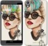 Чехол на HTC Desire 820 Девушка в очках «3579c-133-9980»