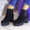 Ботинки на широком каблуке ЗамЗамши