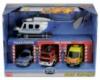 Гараж с игрушечными авто милиции, скорой помощи и пожарных