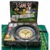 Покерный набор + рулетка (5 в 1)(33х29х7 см)(вес фишки 4 гр. d-39 мм) Код:23080