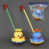 Каталка 0365 (60) «Осьминог» на палочке, 2 цвета, с погремушкой, в кульке
