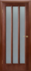 Дверное полотно остекленное «ТРОЯ» темный орех 2000*40*600,700,800,900 мм.